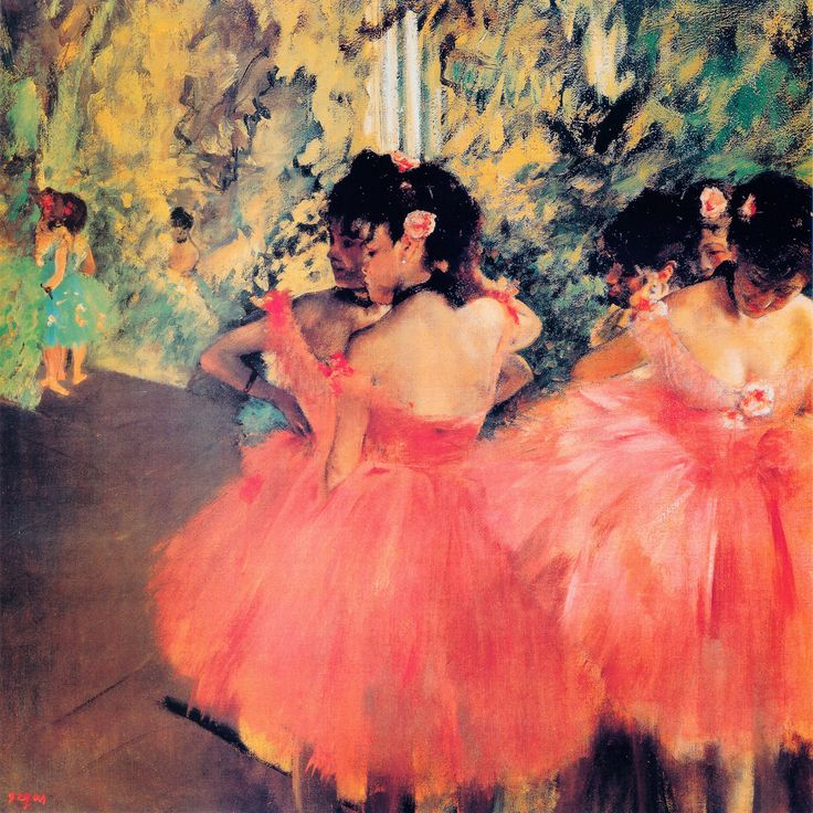 """Ballerina In Red"" - canvas print by Edgar Degas"