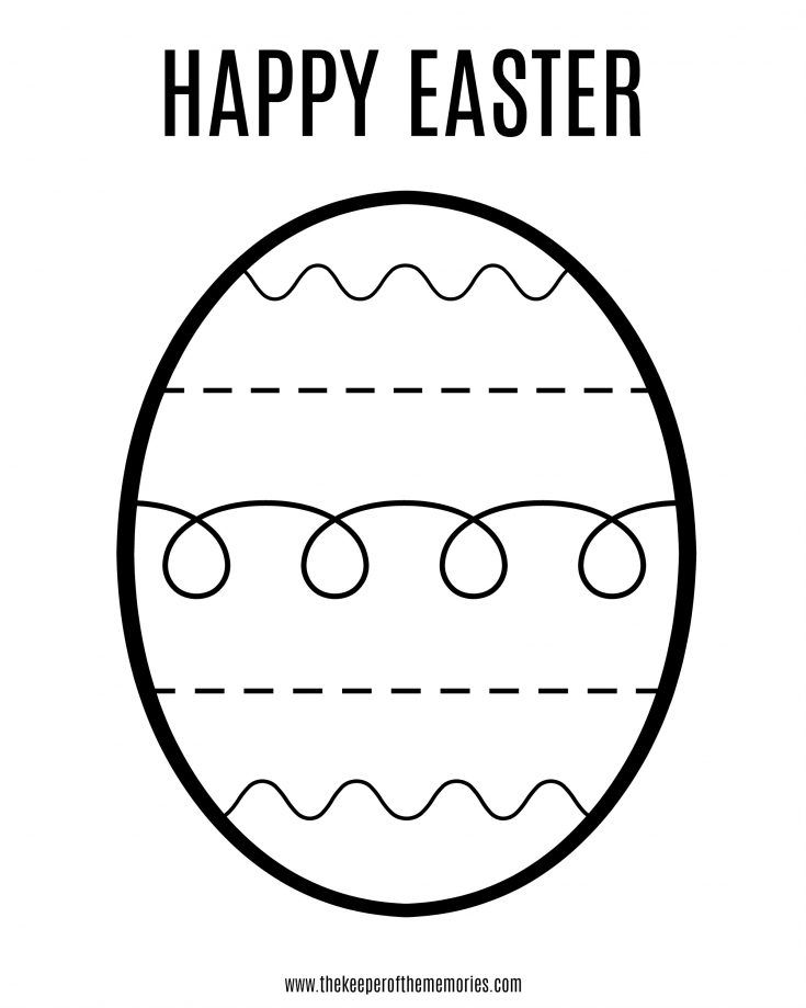 Free Printable Easter Coloring Sheet For Little Kids Easter Printables Free Easter Coloring Pages Printable Coloring Easter Eggs