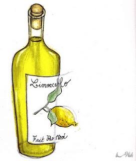 - 800 ml de Vodka (ou 500ml d'alcool à 90°c)  - 5 citrons bio  - 500 ml d'eau  - 300 g de sucre    -Il faut prélever le zeste de tous nos petits citrons, et les placer dans un bocal, avec la vodka pendant 2 semaines, à température ambiante...  -2 semaines plus tard donc, on commence par filtrer ce breuvage jaune. Verser le liquide dans une jolie bouteille.  -Dans une casserole faire chauffer l'eau et le sucre. Que l'on va ajouter à la bouteille. Garder 1 semaine au congélo.