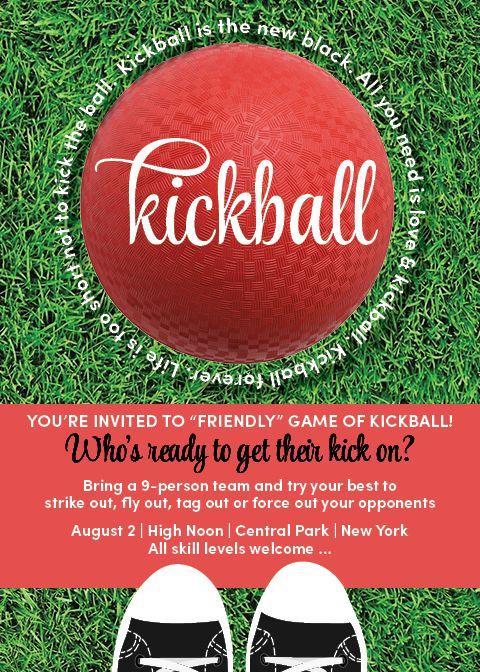 kickball game invitation