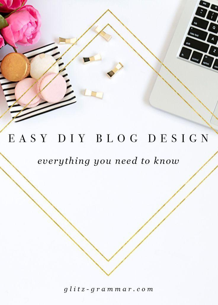 3 Easy DIY Blog Design Tools - Glitz & Grammar   Diy blog ...