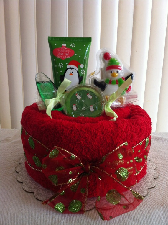 Christmas Towel Cake by meshell609 on Etsy