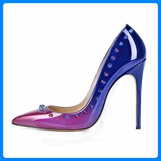 uBeauty Damen High Heels Pumps mit Nieten Übergröße Klassische Damenschuhe Mehrfarbig 45 EU - Damen pumps (*Partner-Link)