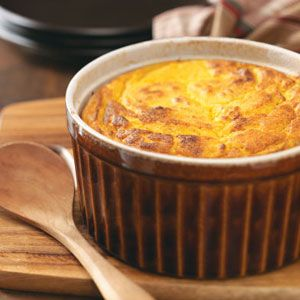 butternut squash souffle: I combined this with some sweet potato. Didn't turn out how I wished. Somewhat watery, for some reason. I may have overbeaten the egg whites, or perhaps squash was too soggy (i made mine fresh and baked it rather than using frozen).