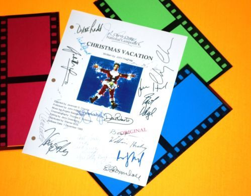 CHRISTMAS VACATION SIGNED SCRIPT RPT CHEVY CHASE, RANDY QUAID, JOHNNY GALECKI