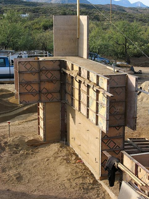 rammed earth formwork @ourfarmadventure, flickr