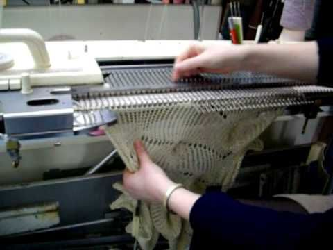 Machine knitting ~ Butterfly stitch - YouTube