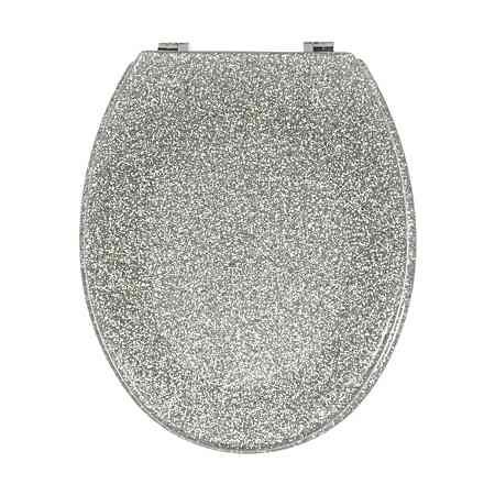George Home Glitter Toilet Seat - Silver