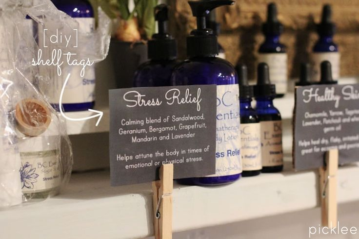 Get Organized with DIY Shelf Labels | Picklee