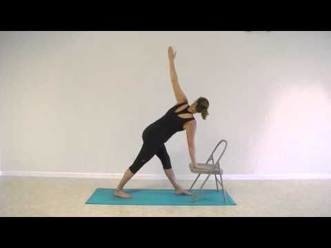 stronger seniors chair yoga standing sequence exercise for