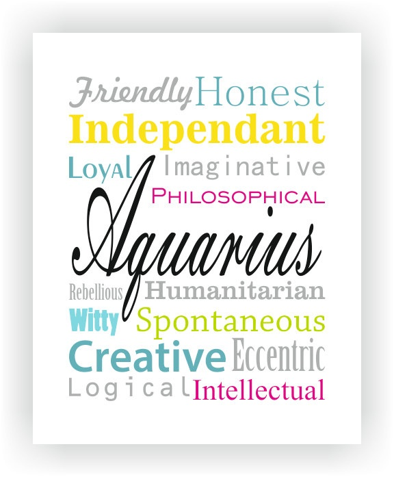 Aquarius Characteristics print by revigorer