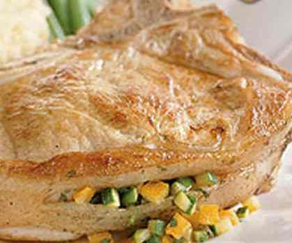 This is a quick and easy veal chop recipe that you can serve with couscous and green beans.