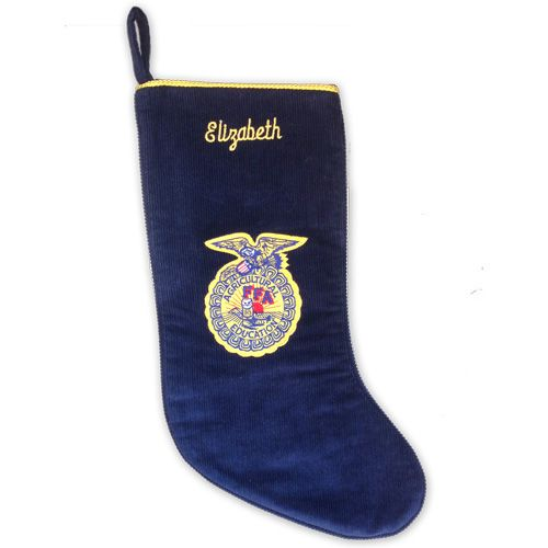 Corduroy Christmas stocking with FFA emblem. http://shop.ffa.org/corduroy-christmas-stocking-p42421.aspx