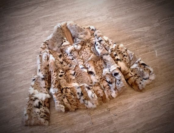 Fur jacket/ Real fur/ Cat lynx/ natural color