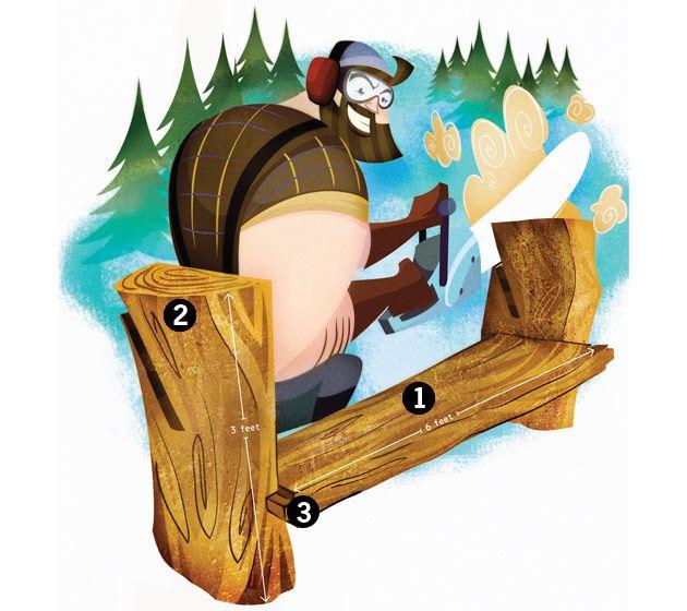 Log Chainsaw Bench – DIY Bench from Fallen Trees - Popular Mechanics