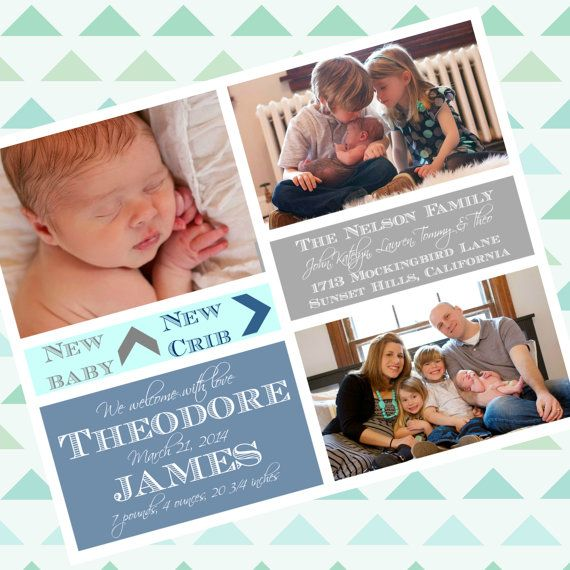 birth moving announcement 2 in 1 totally custom by kbpanddesigns