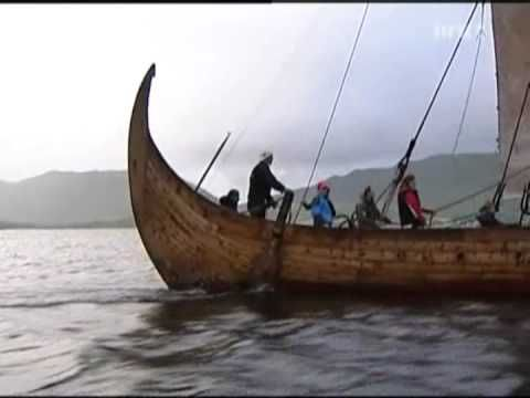 replic of a viking longboat