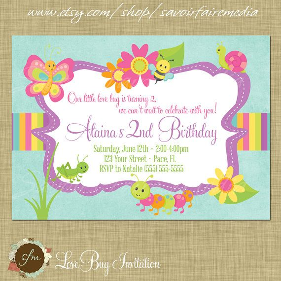 Ladybug Invitation Ideas with great invitation layout