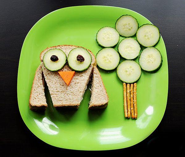 After school snack ideas - owl sandwich