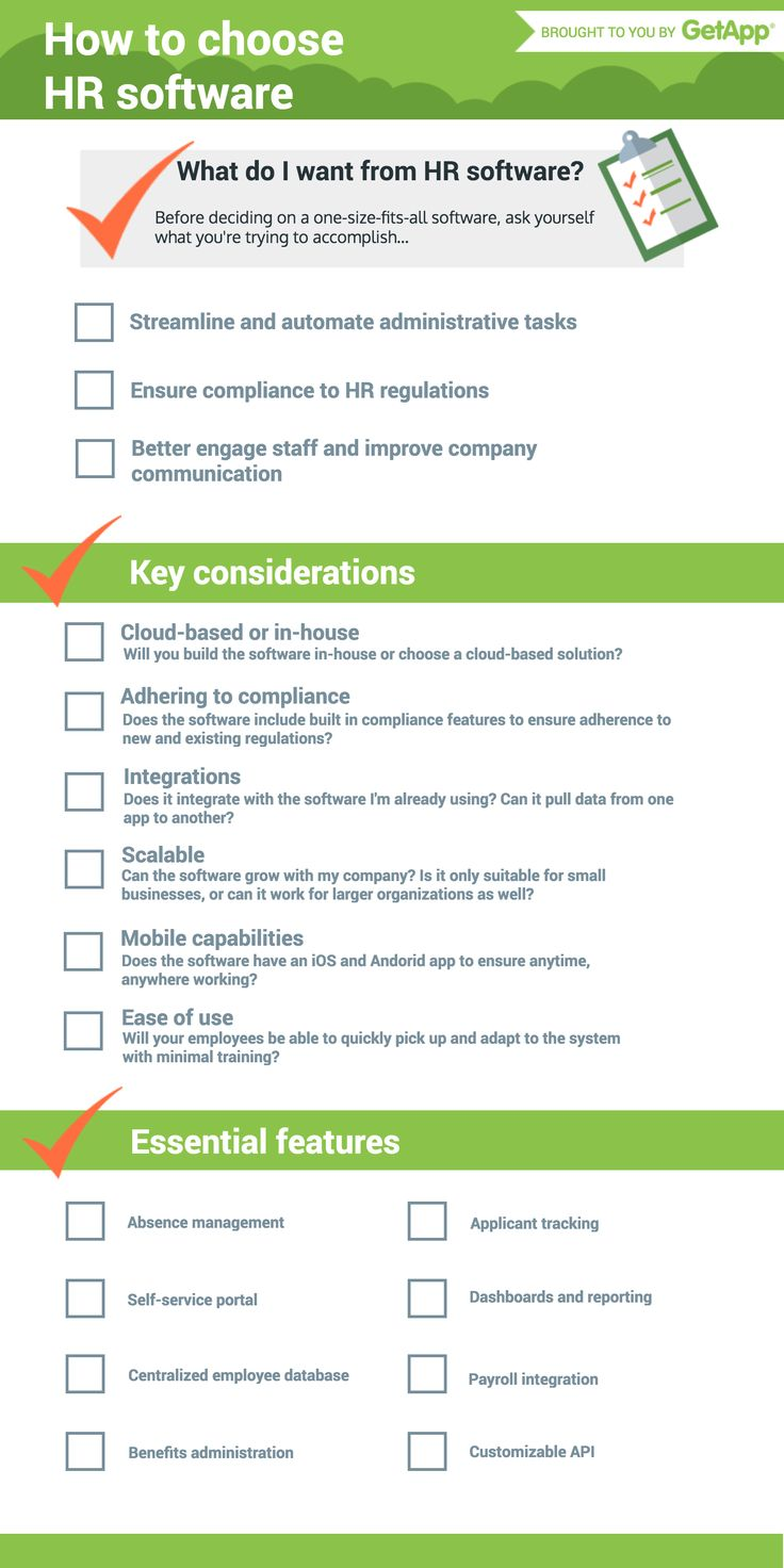 What to Look for When Choosing HR Software: A Handy Checklist