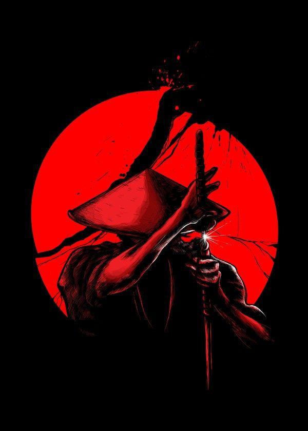 """""""Samurai Slice"""" metal poster by Lou Patrick Mackay #samurai"""