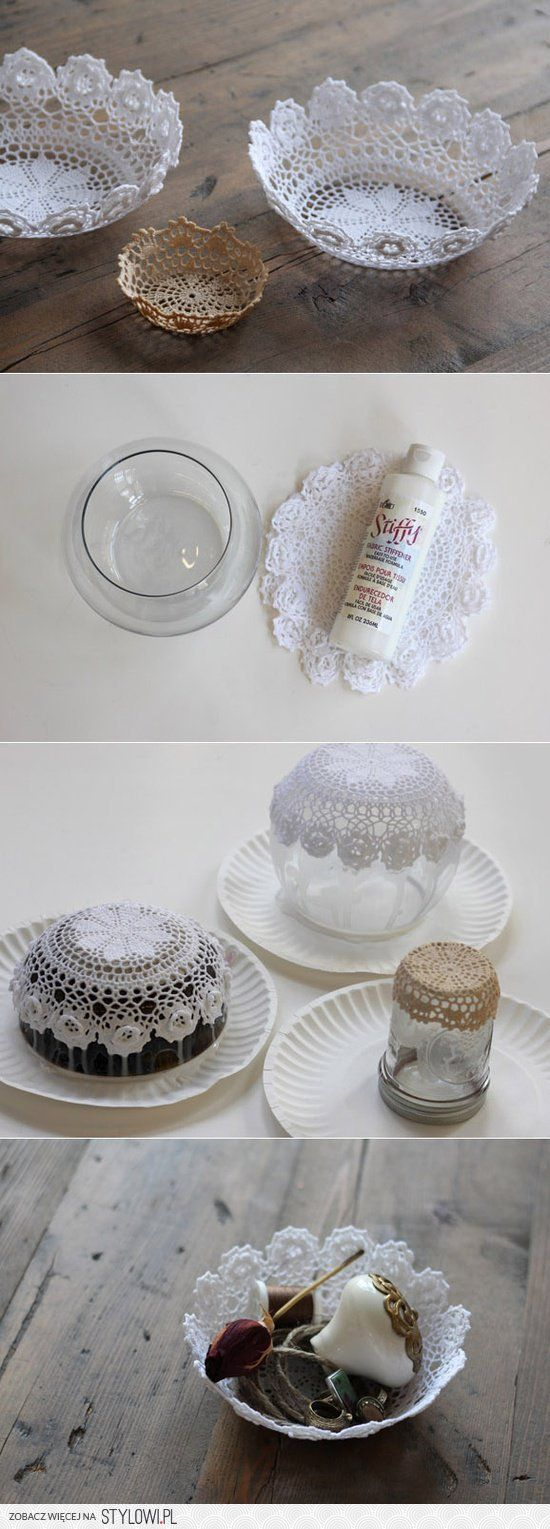 DIY : Lace Doily Bowl