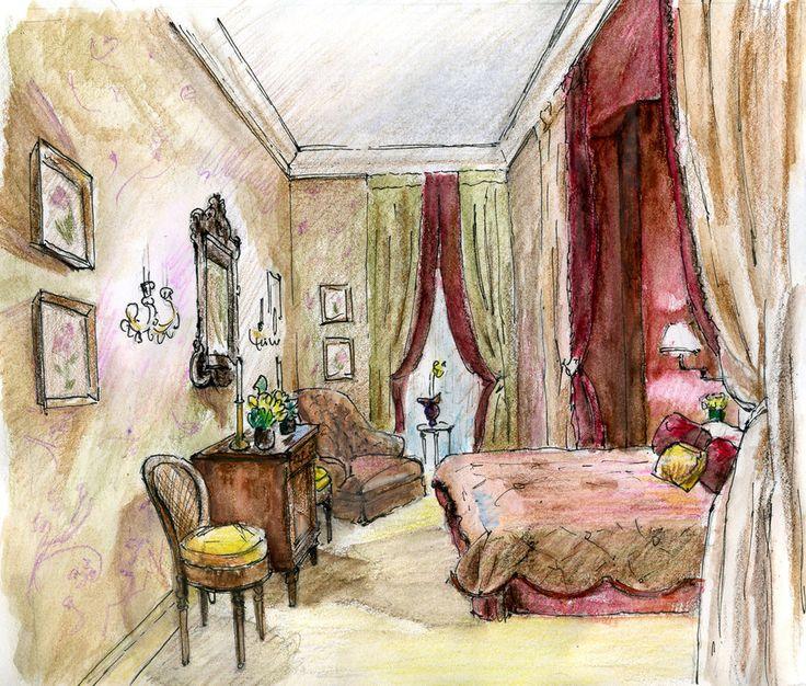 Interior drawing 3 by hardcorish.deviantart.com on @deviantART