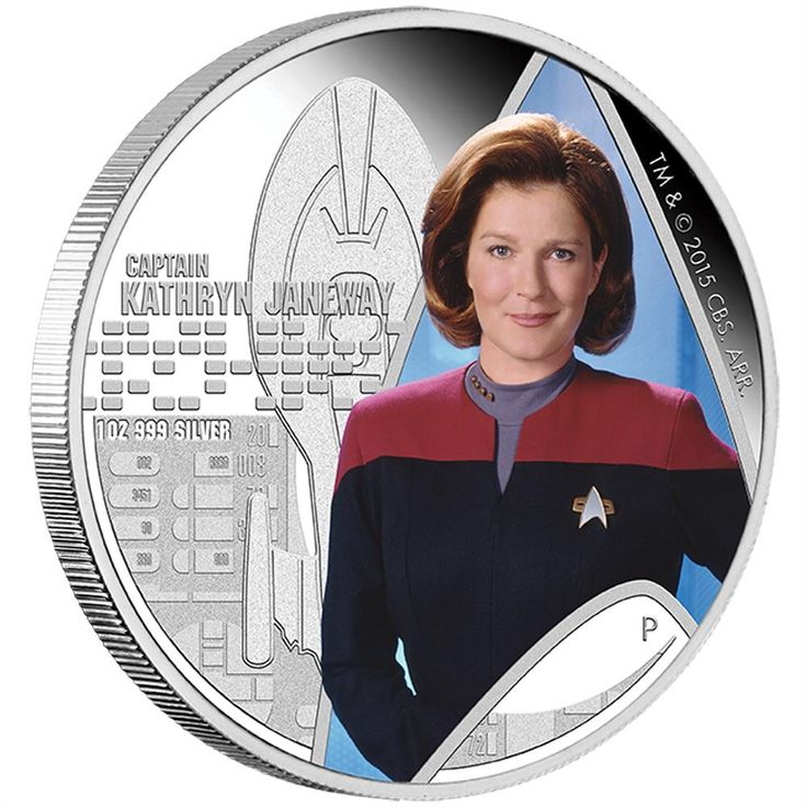 Star Trek: Voyager - Captain Kathryn Janeway 2015 1oz Silver Proof Coin