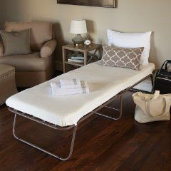 This portable Fold-Up bed will make your adult guests comfortable and doesn't cost an arm and a leg.