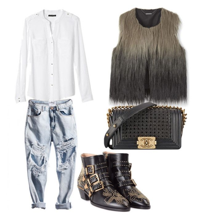 """Untitled #1161"" by mala-palcica ❤ liked on Polyvore featuring Chanel, Banana Republic and Chloé"