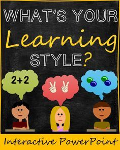 Learning Styles Interactive PowerPoint (Auditory, Visual, Kinesthetic/Tactile). Includes quiz. Great for lower elementary students!