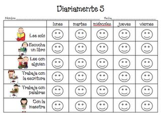 First Grade Dual: The Daily 5 Free Printables in Spanish & English