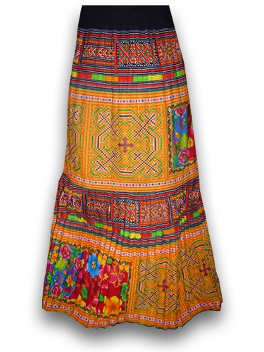 Thailand Hilltribe Hmong Embroidered Skirt