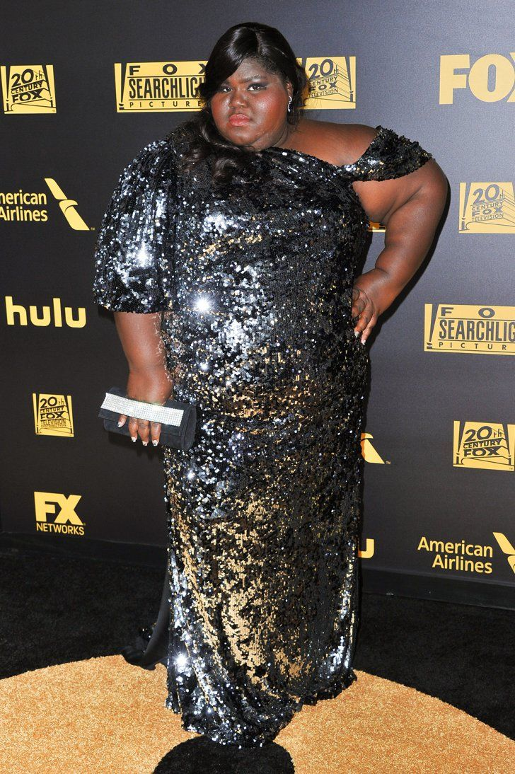 Pin for Later: The American Horror Story Cast Scared Up Some Sexiness at the Golden Globes  Gabourey Sidibe served up a hot pose at Fox's swanky afterparty.