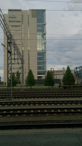 View from railway station