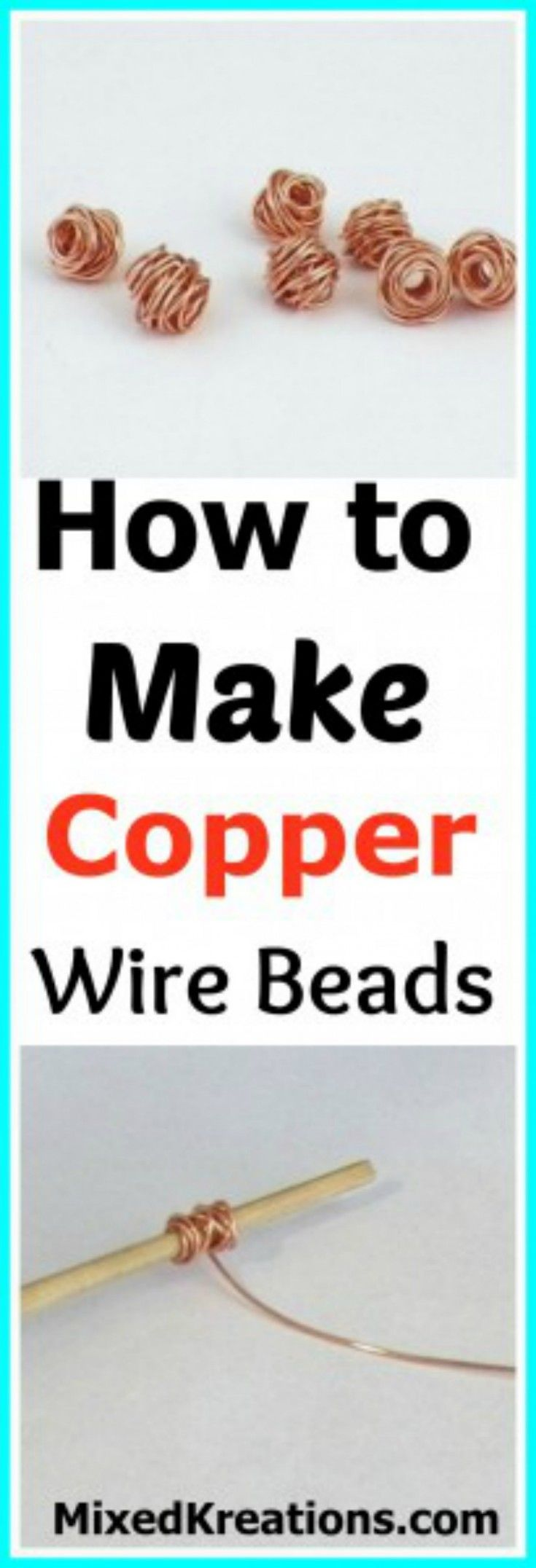 Stiff wire for crafts - How To Make Copper Wire Beads