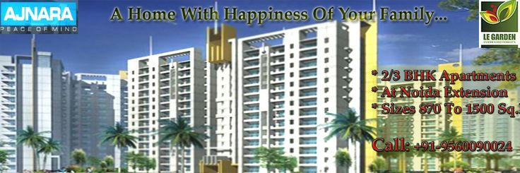 Ajnara Le Garden is a rising star residential project that will be on-set on the floor in Noida Extension which is a unique creation by the famous Ajnara Group.