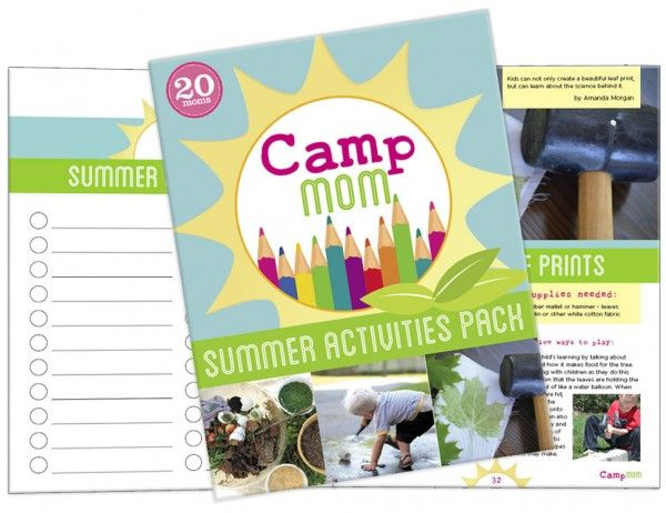 Camp Mom Summer Activities Pack for Kids