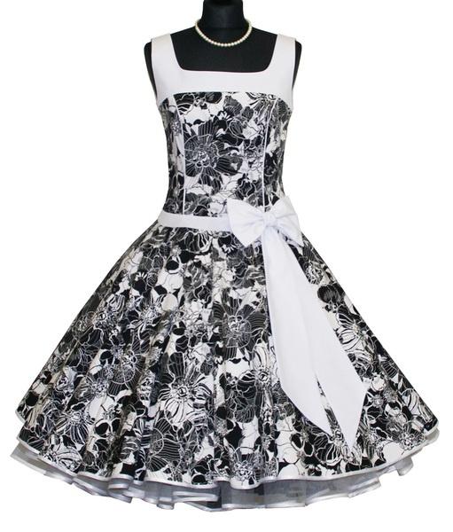 50-er jaren zwart witte petticoat jurk