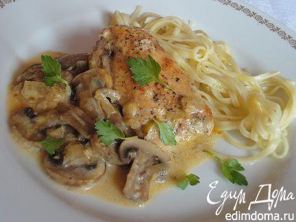 Курица под соусом из шампиньонов | Кулинарные рецепты от «Едим дома!»
