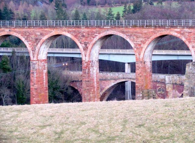 Three Bridges at Leaderfoot