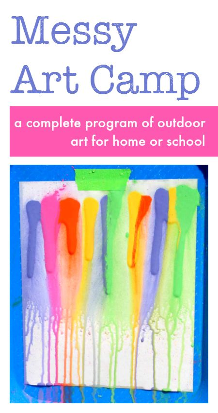 Big, bold, colorful, messy art projects for kids!