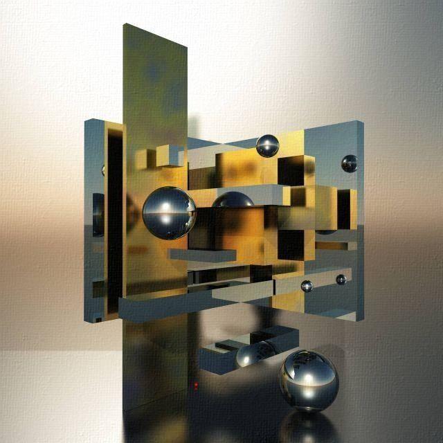 NEO-geometrikus absztrakt - 30 by BAGI LASZLO  jr.