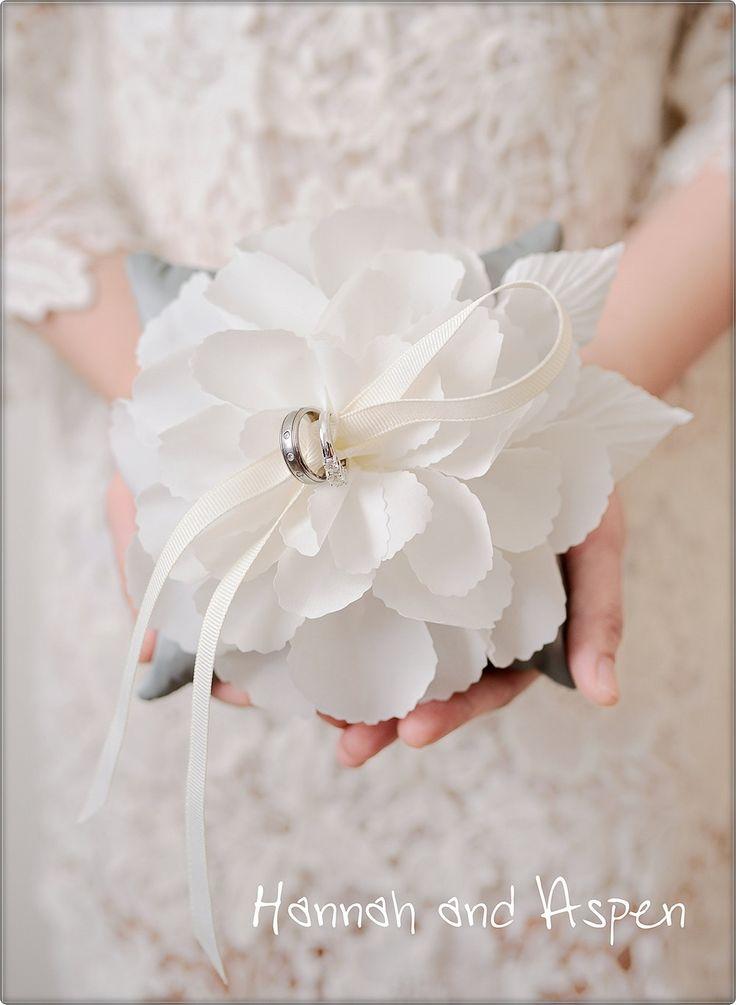"Zoe - 6x6"" Wedding ring pillow - Wedding ring bearer - Ring pillow bearer - 6x6""…"