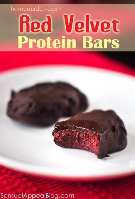 Red Velvet Protein Bars by sensualappealblog.com