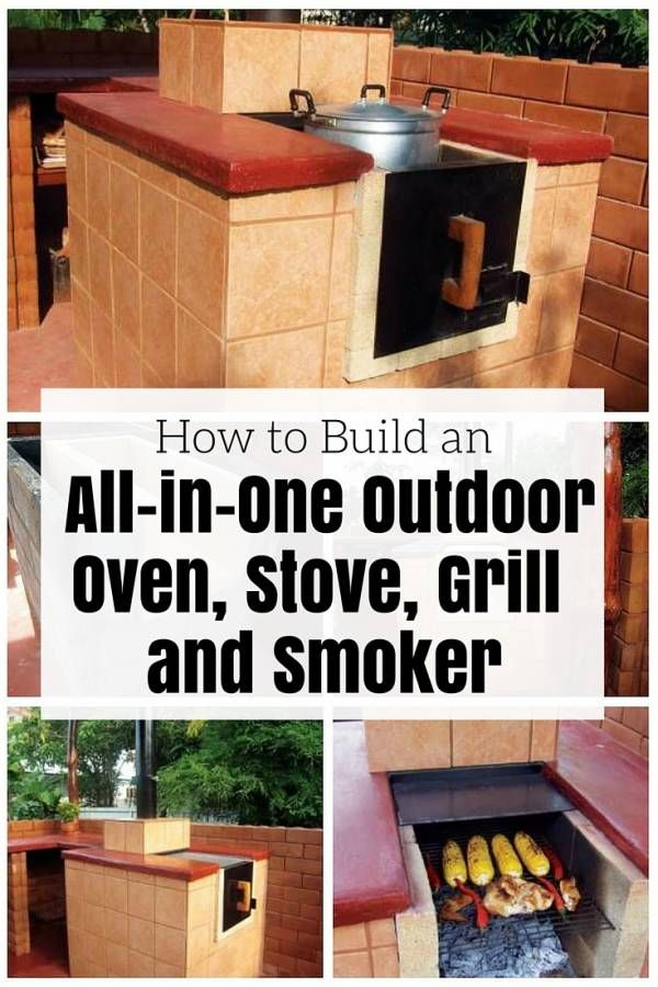 How to Build an All-in-One Outdoor Oven, Stove, Grill and Smoker - http://www.thebudgetdiet.com/how-to-build-an-all-in-one-outdoor-oven-stove-grill-and-smoker?utm_content=snap_default&utm_medium=social&utm_source=Pinterest.com&utm_campaign=snap