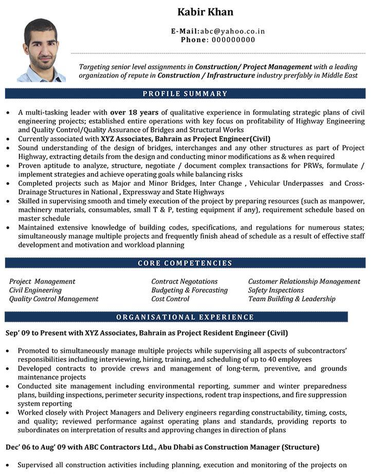 Uae Civil engineer resume, Job resume format