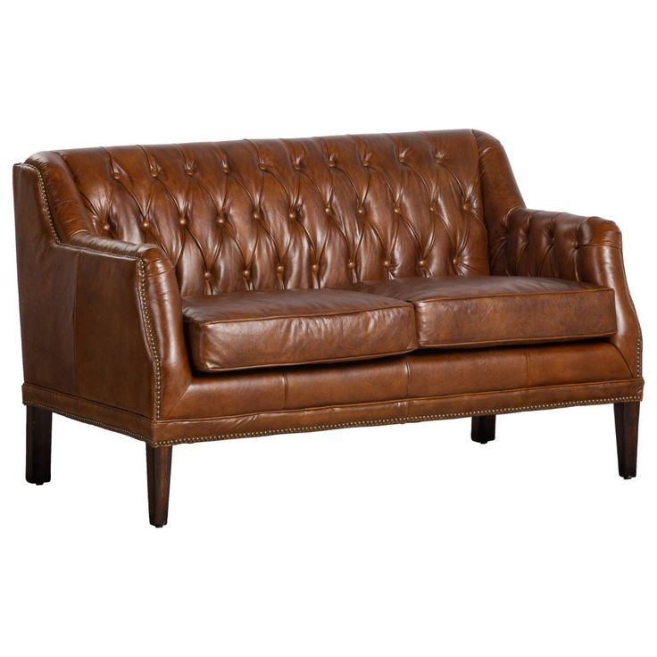 High Back Leather Couch