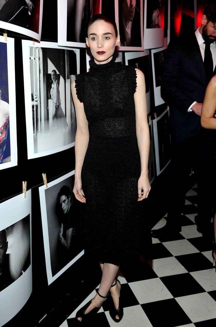 """Rooney Mara lors de la soirée """"Best Performances' Portfolio"""" de W Magazine en amont des Golden Globes le 7 janvier 2016 à Los Angeles."""