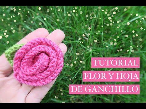 C mo hacer una flor de ganchillo f cil con una hoja how - Hacer flores de ganchillo ...
